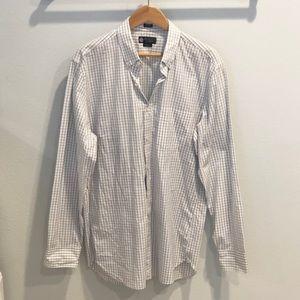 J Crew Long Sleeve Button Up Plaid Shirt Size L